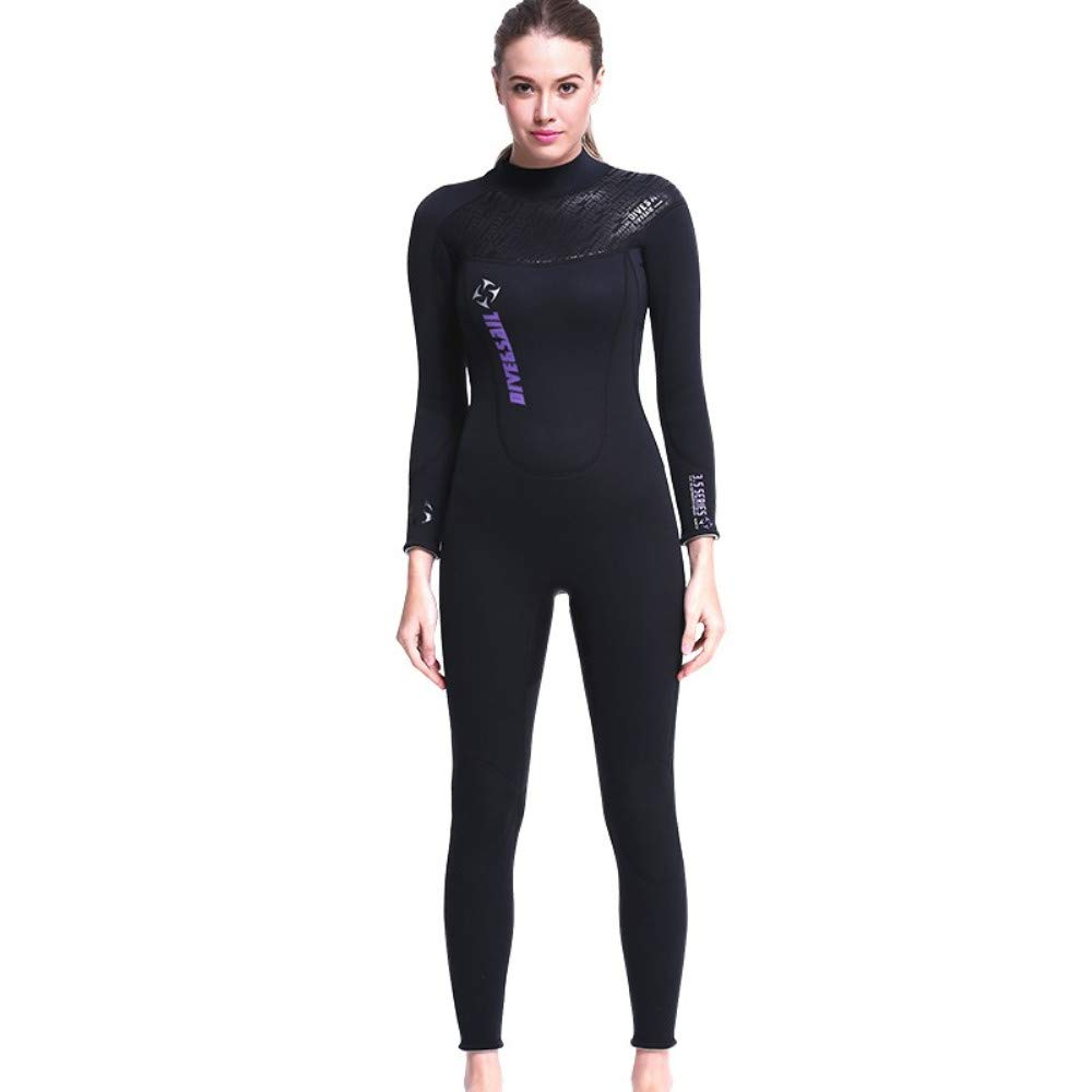 DIVE & SAIL 3MM Neoprene Wetsuit,Full Body Sport Rash Guard Dive Skin Suit Women and Mens Thermal for Diving, Snorkeling, Swimming, Surf Kayak (Thick) by DIVE & SAIL