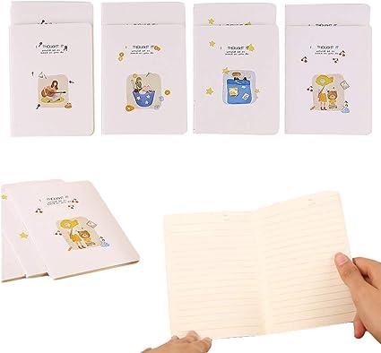 Shulaner Cuaderno lineas A6, 32 hojas, 14 x 10,3 cm, a6 pequeño notebook, Pack de 12 - Vida: Amazon.es: Oficina y papelería