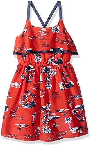 Nautica Girls' Spaghetti Strap Fashion Dress  scenic dark red 6X
