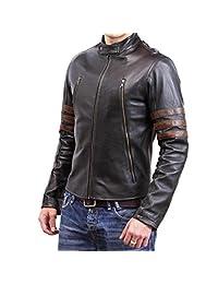 X Men Hugh Jackman Origins Wolverine Brown Motorcycle Logan Leather Jacket