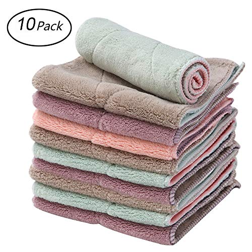 Microfiber Cleaning Cloth Kitchen Dish Cloths & Dish Towels