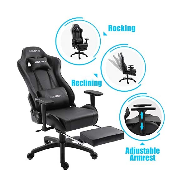 Groovy Dowinx Gaming Chair Ergonomic Office Recliner For Computer With Massage Lumbar Support Racing Style Armchair Pu Leather E Sports Gamer Chairs With Evergreenethics Interior Chair Design Evergreenethicsorg
