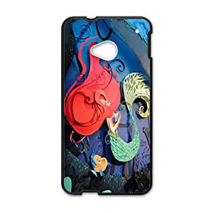 Cartoon Mermaid Black HTC M7 case