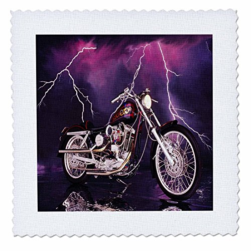 3dRose Quilt Square Picturing Harley-Davidson174; Motorcycle (qs_8332_3)