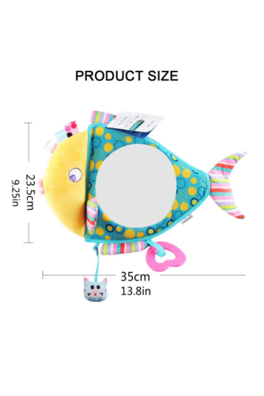 SMTD Haute Qualit/é S/ûr et Non Toxique Installation Facile Miroir Voiture B/éb/é Retroviseur de Surveillance Sans Odeur et Sain Cartoon Peluche Miroir dobservation de B/éb/é