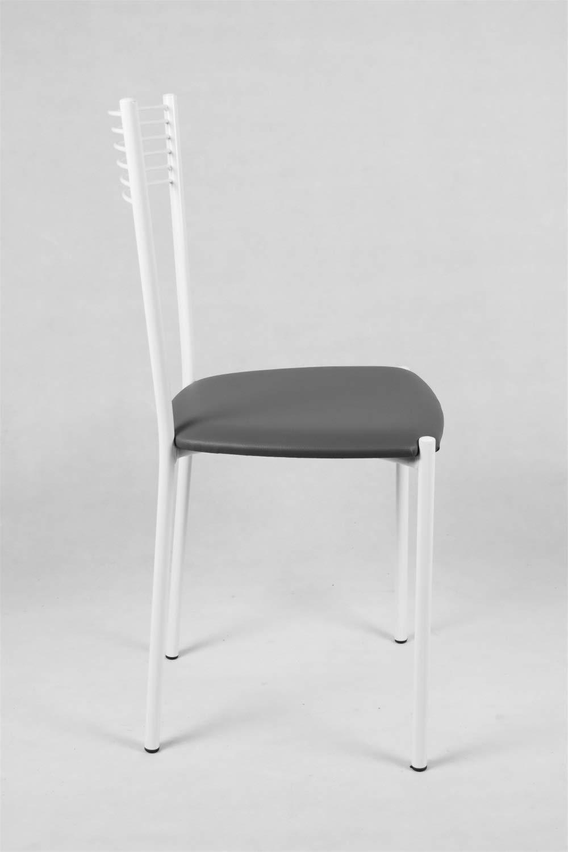 con Struttura in Acciaio Verniciata Seduta in Ecopelle Color Bianco Bar e Sala da Pranzo Tommychairs Set 4 sedie Moderne e di Design Elegance per Cucina