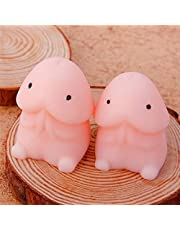 GGJIN Cute Mochi Dingding Seal Squeeze Toy Focus on Stress Healing Soft Fun Toys,Variations:Default