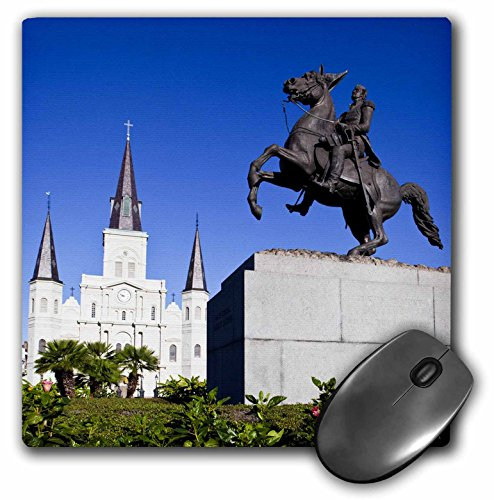 Price comparison product image 3dRose La New Orleans St Louis Cathedral Statue US19 WBI0131 Walter Bibikow Mouse Pad (mp_90490_1)