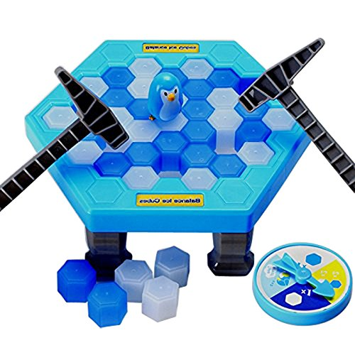Toy Ice (SuperLi Puzzle table games penguin ice pounding penguin ice cubes save penguin knock ice block wall toys desktop paternity interactive game)