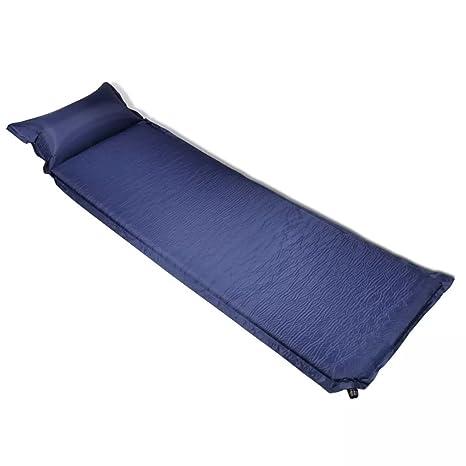 vidaXL Colchón de aire 6 x 66 x 200 cm Azul almohada ...