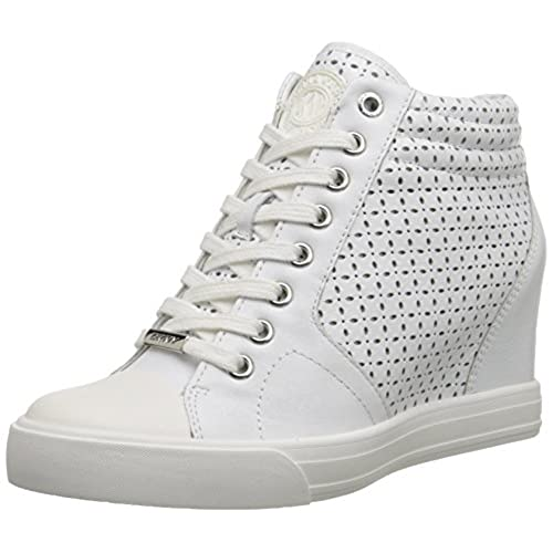 31a7f6b0bbd5 DKNY Women s Cindy Perforated Wedge Sneakers chic - appleshack.com.au