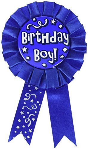 Birthday Boy Award Ribbon Party Accessory (1 count) (1/Pkg)