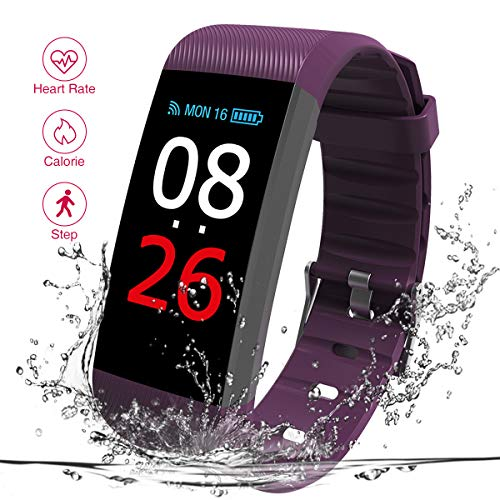 New R11 Fitness Tracker with Heart Rate Monitor, IP67 Waterproof Bluetooth Smart Bracelet with Camera Remote Shoot, Activity Fitness Wristband Pedometer for Android and iOS Phone