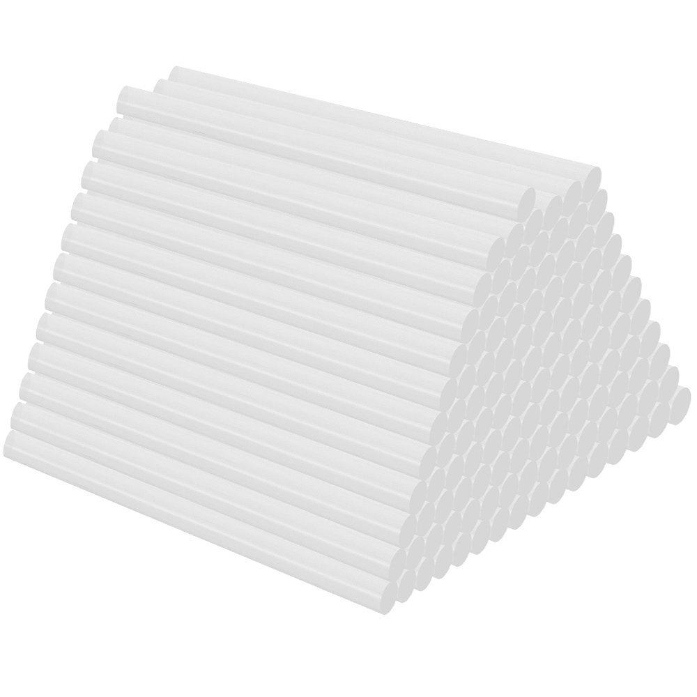 Lucky Monet Hot Melt Glue Sticks 8'' Length x 0.43'' Diameter for DIY Art Craft Repair 100Pcs/Pack