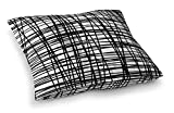 KAVKA DESIGNS Lines Floor Pillow, (Black) - INSPO Collection, Size: 23x23x8 - (SCRAVC067FPS23)