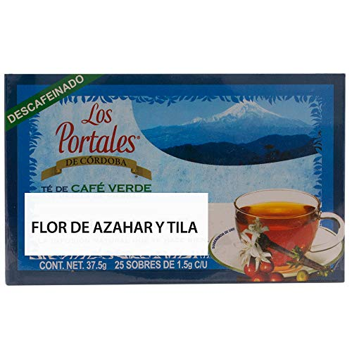 Los Portales de Cordoba Té de Café Verde, Flor de Azahar y Tila, 25 sobres