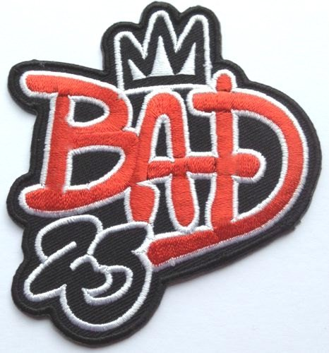 Mj Bad Costume (Michael Jackson Bad 25th Anniversary Patch Embroidered Iron on Badge Applique Costume Cosplay King of Pop Tribute MJ Souvenir)