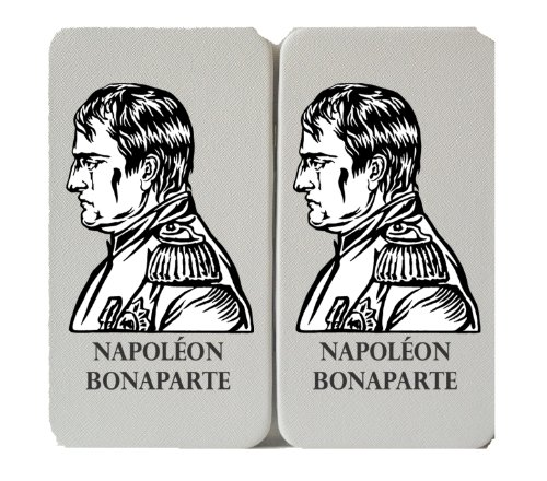 Napoleon Bonaparte - White Taiga Hinge Wallet Clutch (Hat Napoleon)