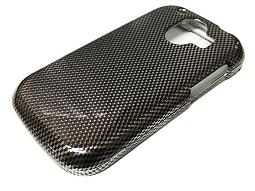 For ZTE Compel Z830 Hard Snap on Protector Phone Cover Case + Happy Face Phone Dust Plug (Carbon Fiber Design) (Carbon Faceplate Fiber Protector)