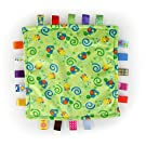 Taggies Little Plush Blanket, Green/Yellow