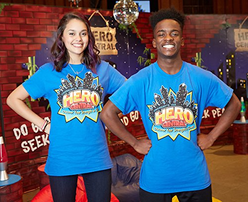 Read Online Vacation Bible School VBS Hero Central Leader T-Shirt Size Small: Discover Your Strength in God! pdf