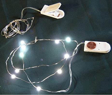 Amazon.com: Micro LED White Lights on Ultra Thin Wire- Battery- 3 ...
