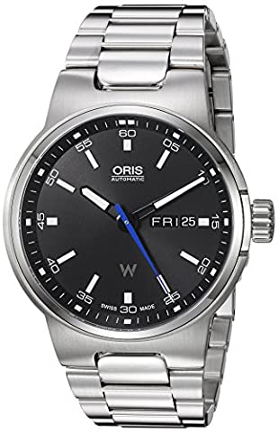 Oris Men's 'Wiliams F1 DD' Swiss Stainless Steel Automatic Watch, Color:Silver-Toned (Model: (Watch Automatic Oris)