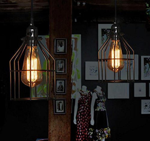 Metal Bird Cage String Lights : Bekith Vintage Style Bird Cage Lighting Metal Lamp Guard for Pendant String Lights and Lamp ...