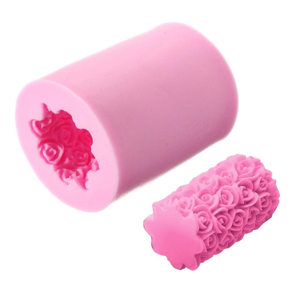 Stampo Candela Stampo Fondente, Forma di Rosa, Stampo in Silicone per Sapone Fatto a Mano, Pastelli, Cera, Gesso di Parigi, Argilla Polimerica Sunneey