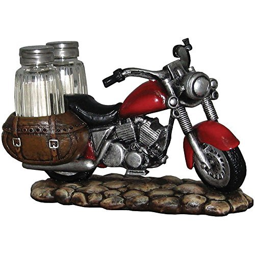 Spicy Rider Motorcycle Salt And Pepper Shaker Set- Vintag...