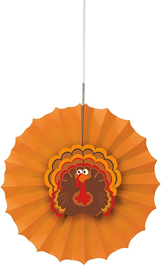 Turkey Cutout Hanging Decoration Thanksgiving Dinner Party Fun Fall Season Event