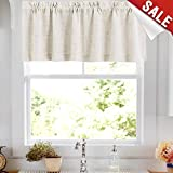 valances window treatments Linen Valance 15 inches Long Rod Pocket Kitchen Crude Beeige Window Treatments Living Room 1 Panel