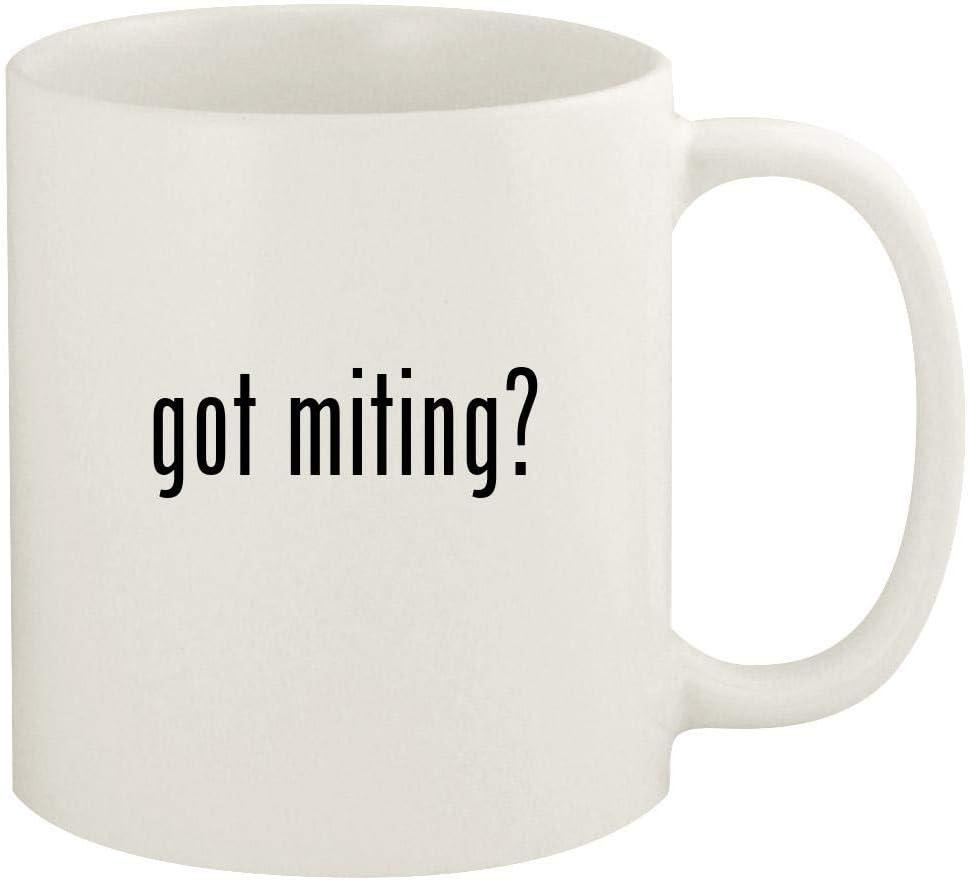 got miting? - 11oz Ceramic White Coffee Mug Cup, White