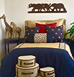 Walk on the Wild Side, Twin Bed Scarf and One Coordinating Pillow, Perfect for the Traveling Guest, Bed Runner for a Twin Bed