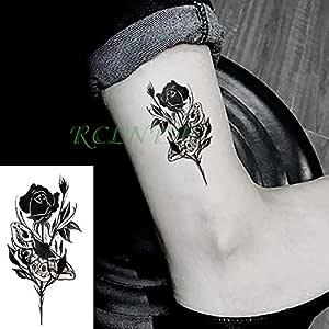 adgkitb 5 Piezas Impermeable Tatuaje Temporal Pegatina Rosa Flor ...