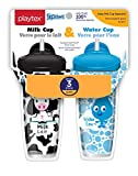 Playtex Baby Sipsters Spill-Proof Milk and Water Straw Cups for Kids, Stage 3 (12 Plus Months), Pack of 2