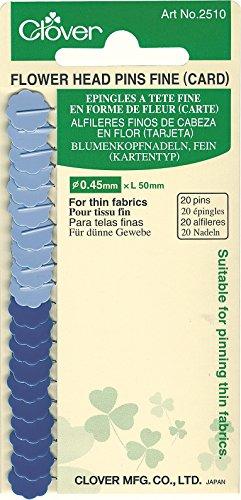 Clover Flower Head Pins-Fine Card, 20 ea.