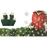 4' x 6' Warm White LED Wide Angle Net Style Christmas Lights - Green Wire