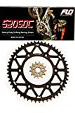 FLO MOTORSPORTS O-RING Chain and Sprocket Combo Kit BLACK 48, 49, 50, 51 Tooth rear sprocket / 14T front sprocket YAMAHA YZ450F YZ250 (52T)