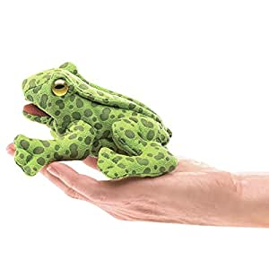 Folkmanis Mini Frog Finger Puppet Plush
