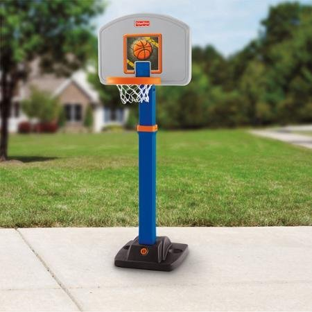 Fisher-Price Grow 2 Pro Basketball, 4 Height Positions; 3' to 6' Great for Beginners or