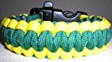 "Paracord Survival Bracelet 8.5"" Green/Yellow"
