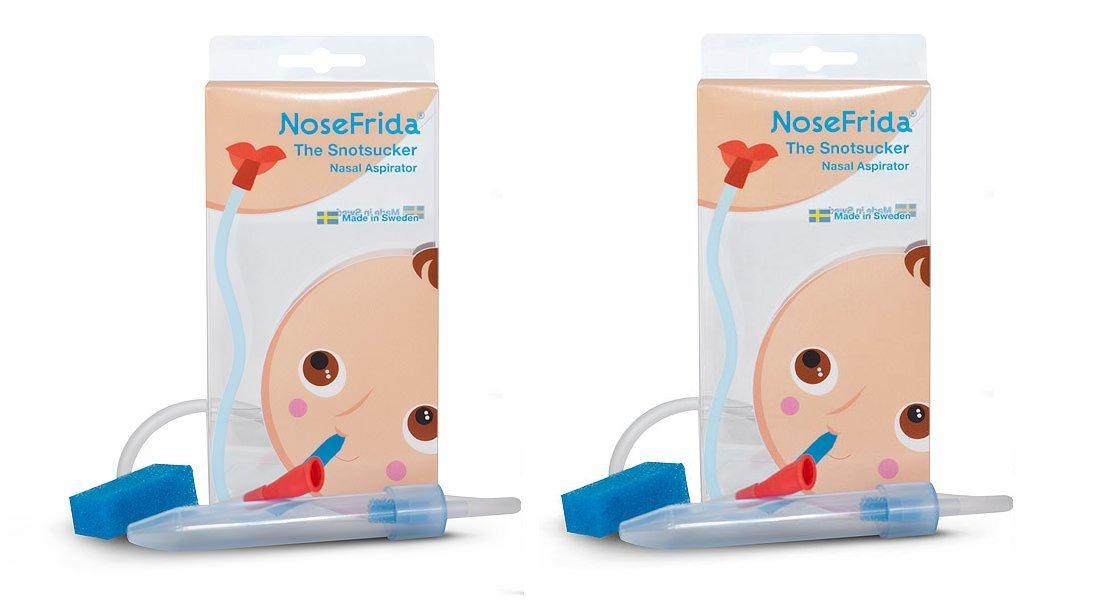 2 Pack Nosefrida Baby Nasal Aspirator Snot Sucker