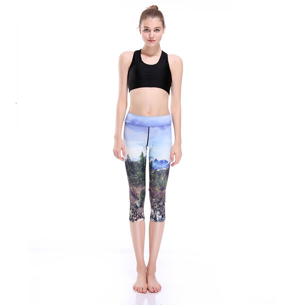 GYXYYF Sportyogahosen, Atmungsaktiv, Schweißabsorbierend, Weiblich, Sieben-Punkt-Yogahosen