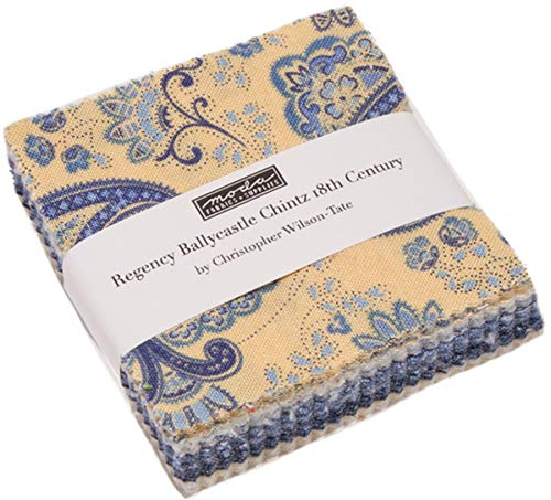 Regency Comforter - Regency Ballycastle Chintz Mini Charm Pack by Christopher Wilson Tate; 42-2.5 Inch Precut Fabric Quilt Squares