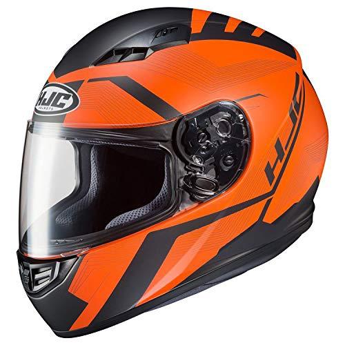HJC Unisex Adult Full Face Helmet Orange/Black (Hjc Full Face Helmets)