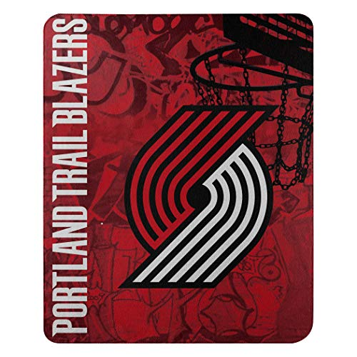 The Northwest Company Officially Licensed NBA Portland Trail Blazers Hard Knocks Fleece Throw Blanket, 50