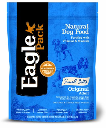 Eagle Pack Natural Pet Food, Original Adult Pork Meal and Chicken Meal Small Bites Formula for Dogs, 6 lb Bag, My Pet Supplies