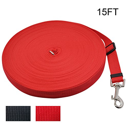 WeTong Pet Supply Dog/Puppy obedience Recall Training Agillity Lead-15ft 30ft 50ft 100ft 164ft Dog Training Lead/Leash for Training,Camping or Backyard with Medium and Larger Dogs from WeTong