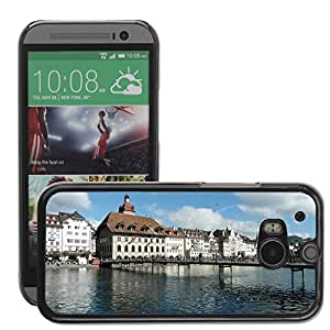 Hot Style Cell Phone PC Hard Case Cover // M00171083 Lucerne Town Hall Reussteg Bridge // HTC One M8